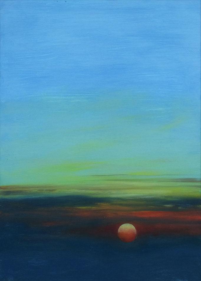 Sunset 4 - 24 x 33 cm  Ölfarbe auf Papier   45.00 €
