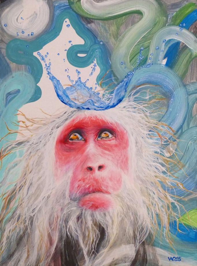 Bin ich eine Göttin? -  60 x 80cm   Acrylfarbe auf 3mm MDF-Platte, Schlussfirnis  230€