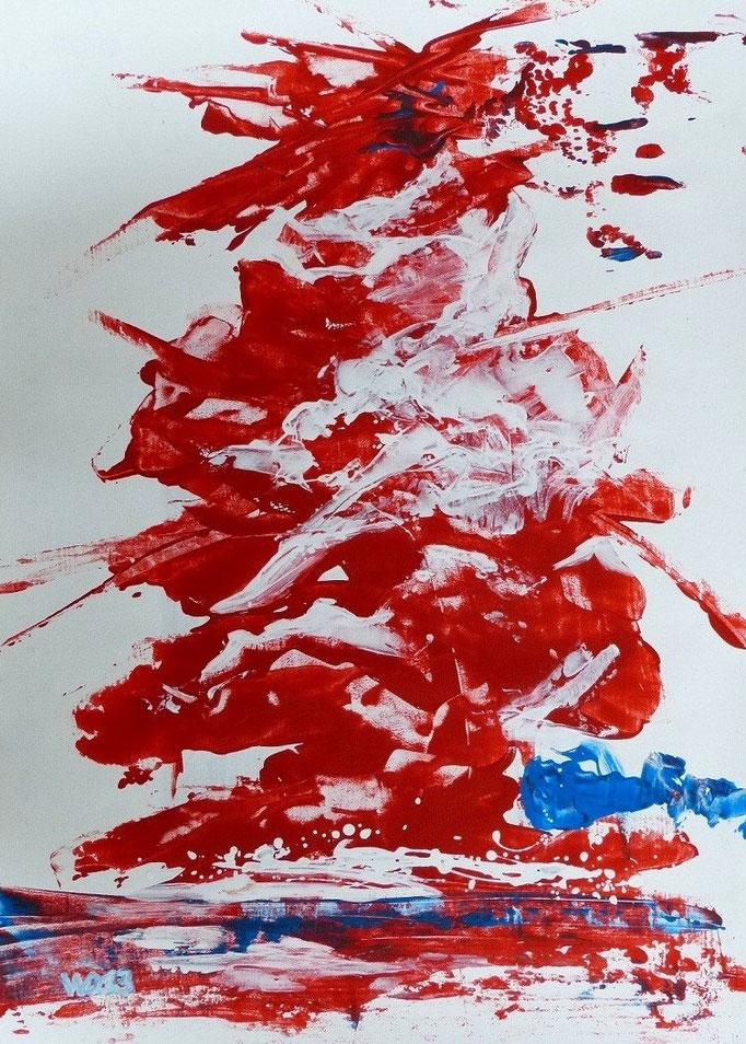 1228 - 48 x 67 cm  Acrylfarbe, Papier   39.00 €