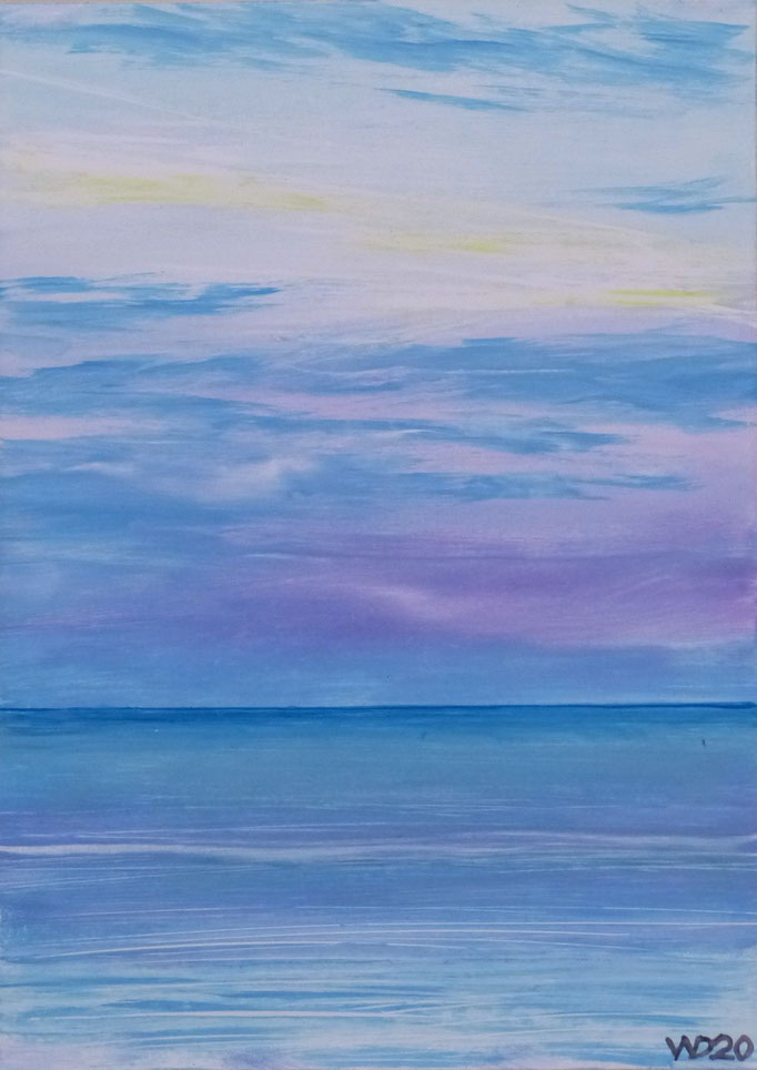 Sunset 40 - 24 x 33 cm  Ölfarbe auf Papier   45.00 €