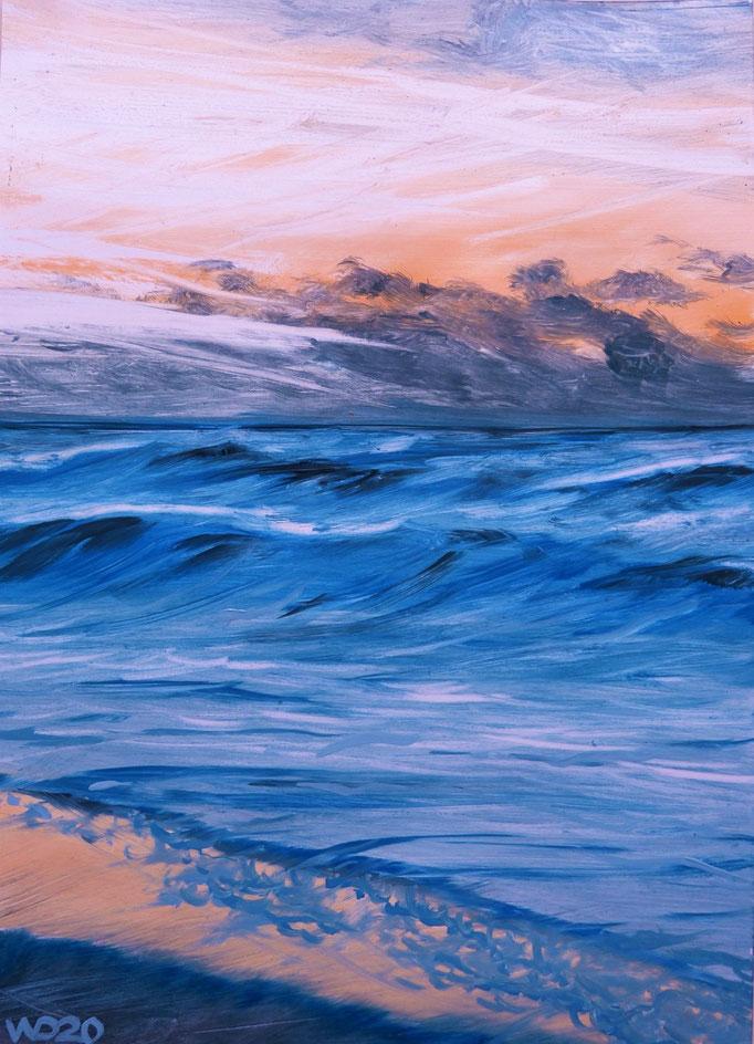 Sunset 61 - 24 x 33 cm  Ölfarbe auf Papier   45.00 €