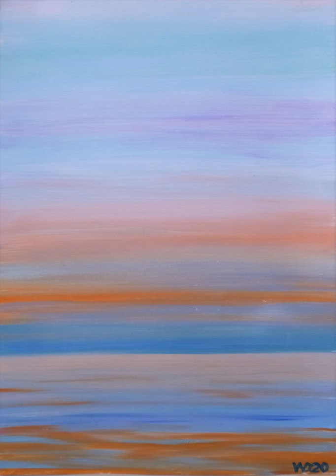 Sunset 36 - 24 x 33 cm  Ölfarbe auf Papier   45.00 €