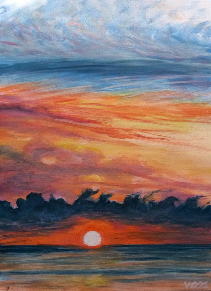 Sunset 81 - 24 x 33 cm  Ölfarbe auf Papier   45.00 €
