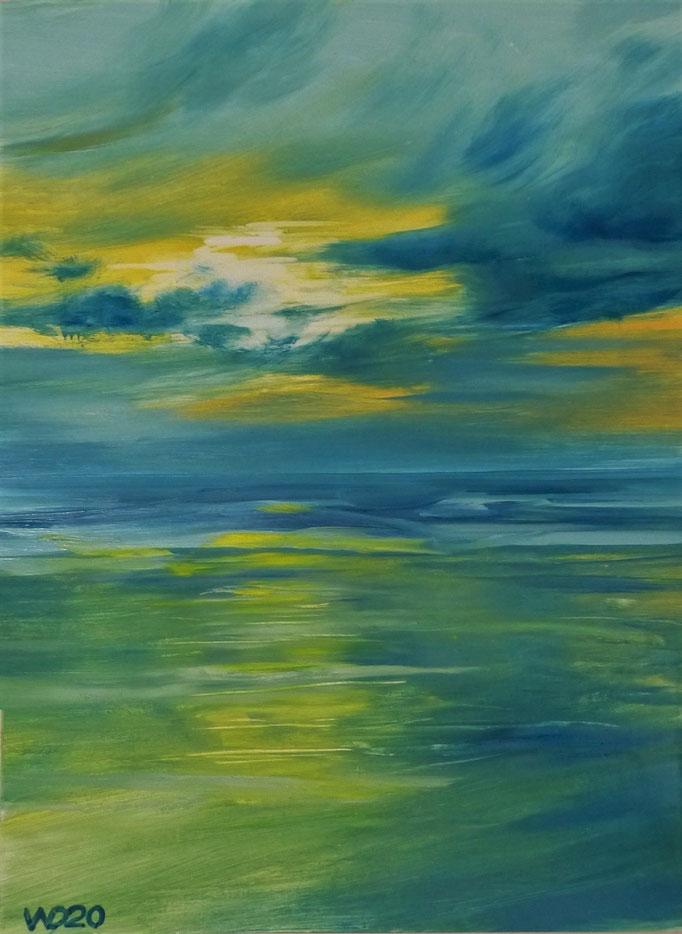 Sunset 32 - 24 x 33 cm  Ölfarbe auf Papier   45.00 €