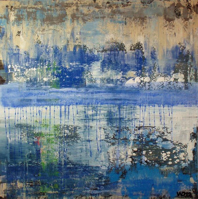Aurora in blau -  65 x 65 cm Acrylfarbe, Schlussfirniss.  (steht z.Z. nicht zum Verkauf) 600.00 €