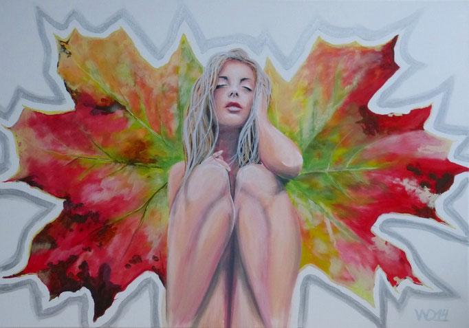 brush me - 70 x 100cm Acrylfarbe, Schlussfirnis  220€