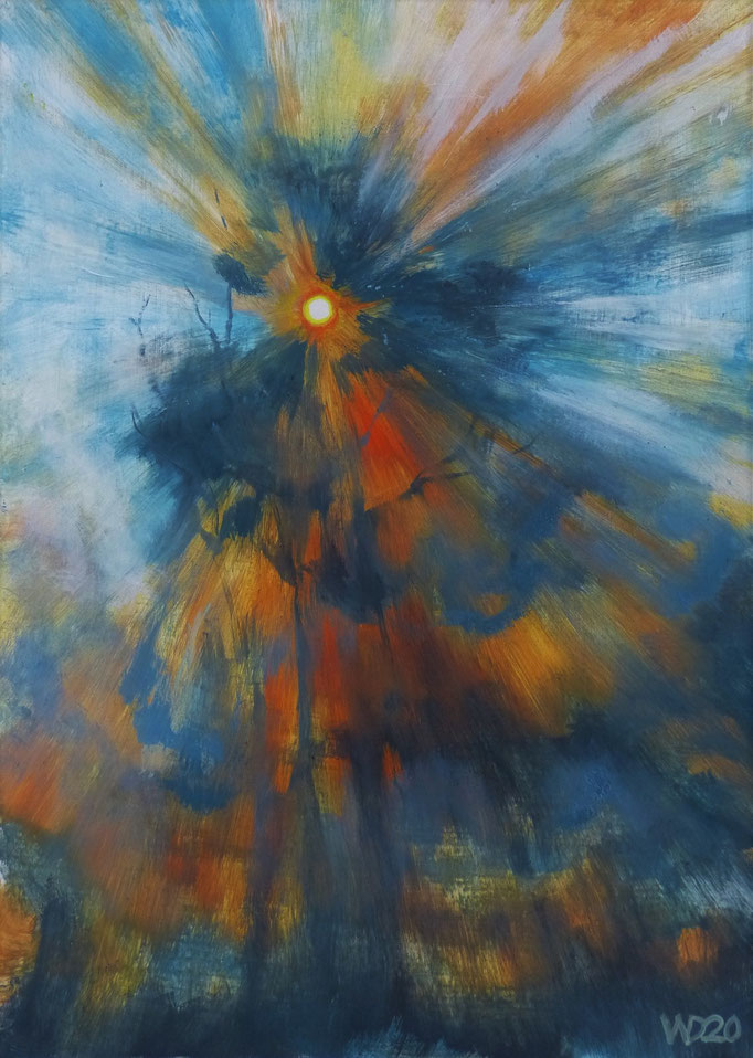 Sunset 15 - 24 x 33 cm  Ölfarbe auf Papier   45.00 €