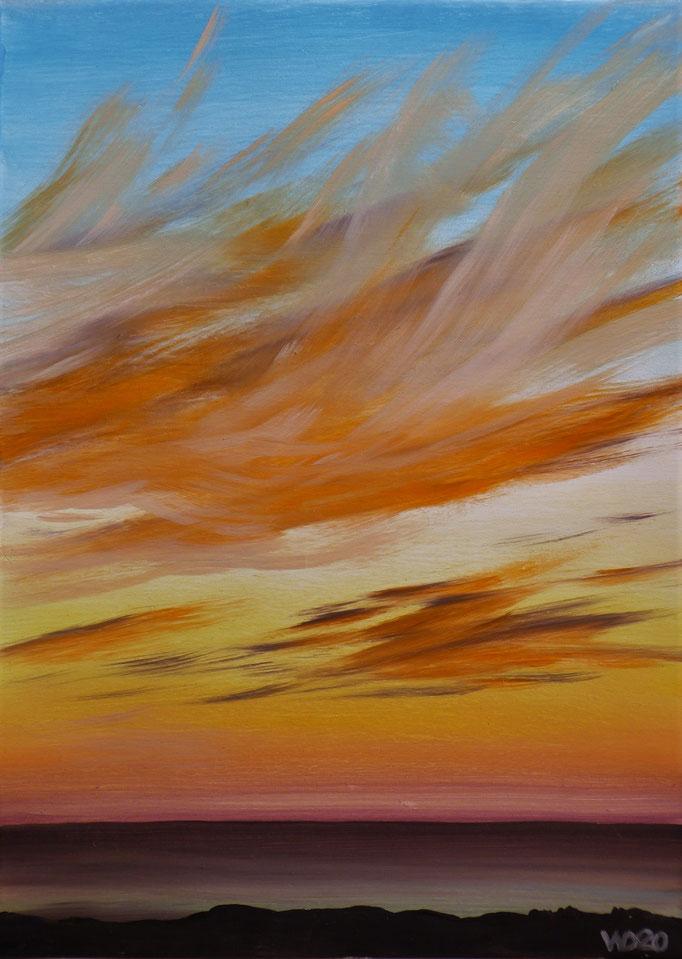Sunset 50 - 24 x 33 cm  Ölfarbe auf Papier   45.00 €