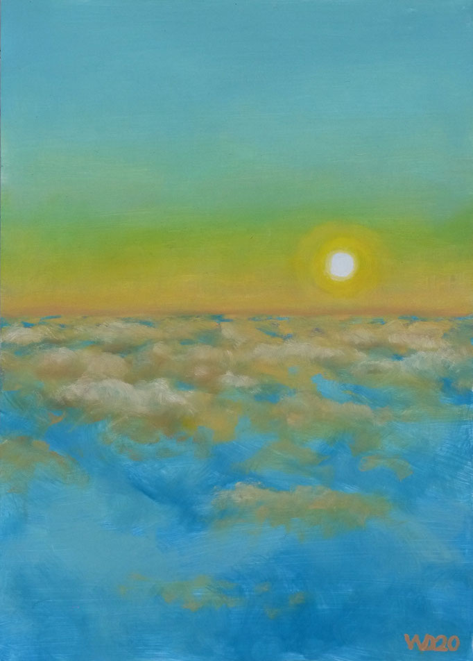 Sunset 8 - 24 x 33 cm  Ölfarbe auf Papier   45.00 €