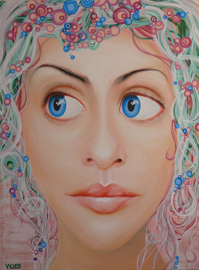 Süsse Träume - 60 x 80cm   Acrylfarbe, Schlussfirnis   230 €
