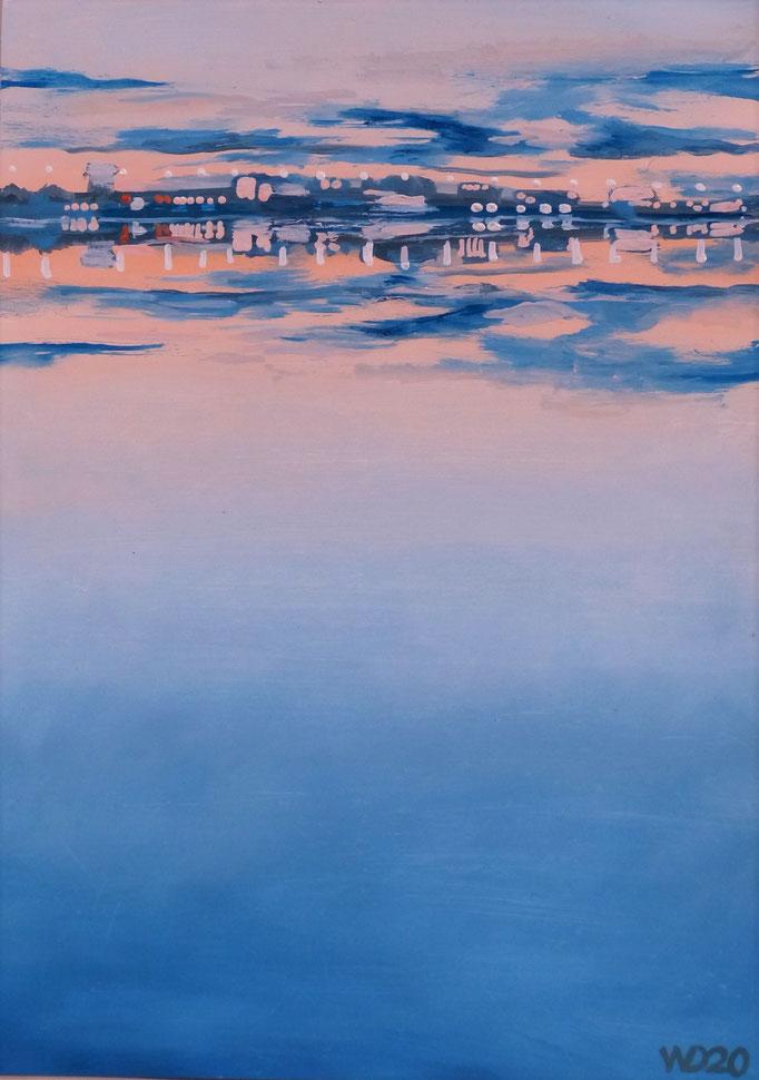Sunset 25 - 24 x 33 cm  Ölfarbe auf Papier   45.00 €