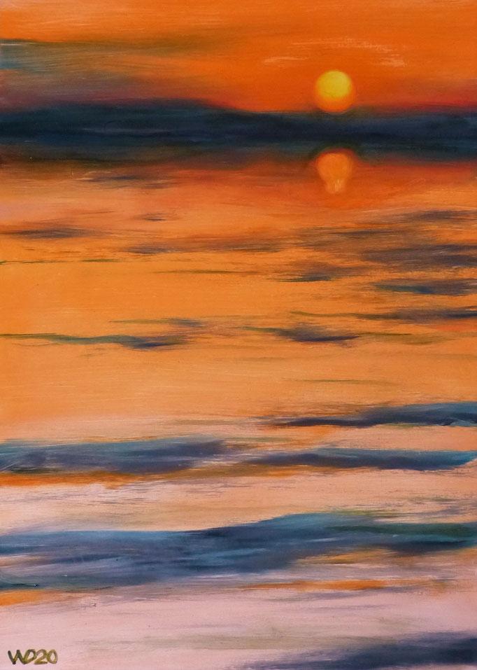 Sunset 30 - 24 x 33 cm  Ölfarbe auf Papier   45.00 €
