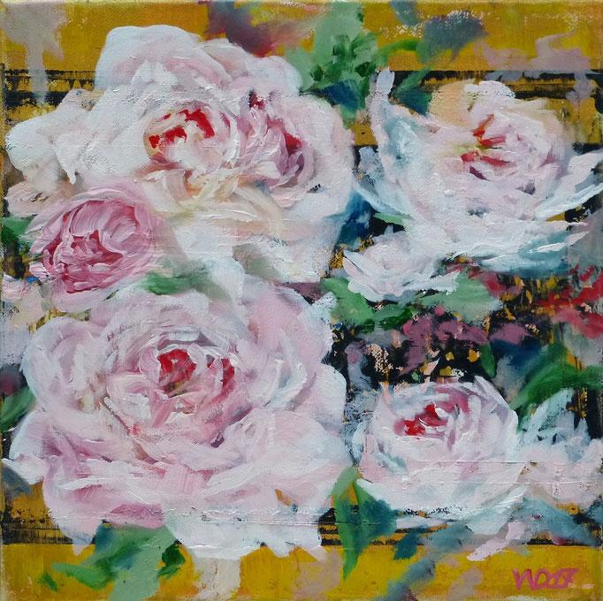 5 Rosen - 30 x 30cm  Ölfarbe, Leinwand   50.00€