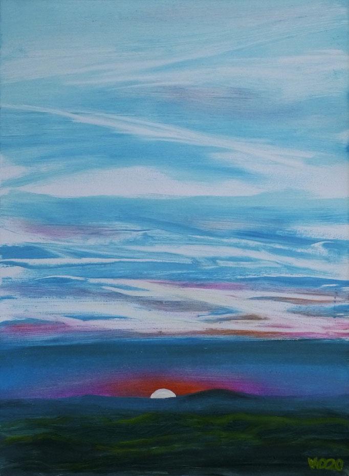 Sunset 75 - 24 x 33 cm  Ölfarbe auf Papier   45.00 €