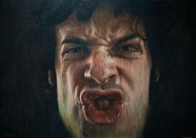 César. Acrílico sobre lienzo, 115x162 cm. Obra finalista en el 14è Premi BBVA de Pintura Ricard Camí 2015.