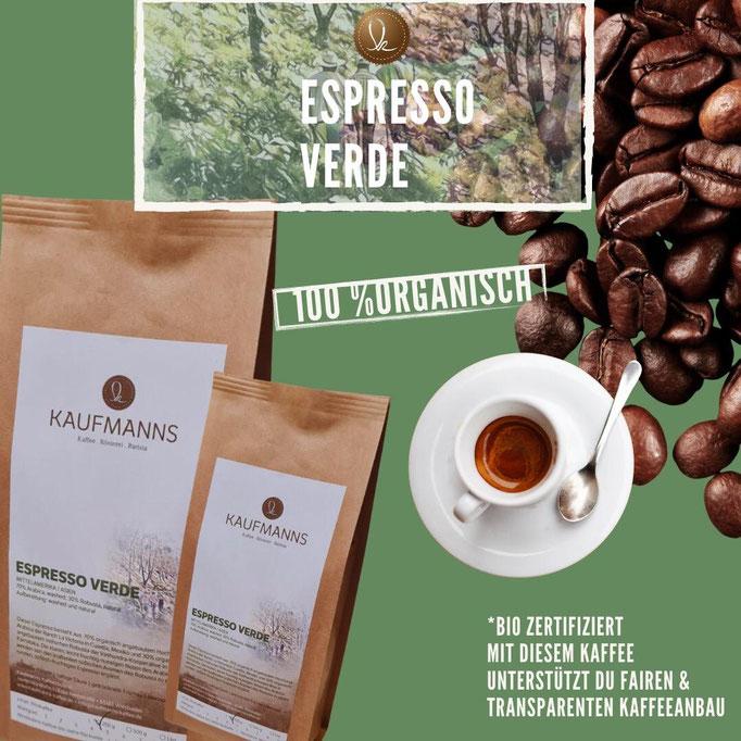 Espresso Verde: Organisch und nachhaltig angebaut, Projektkaffee
