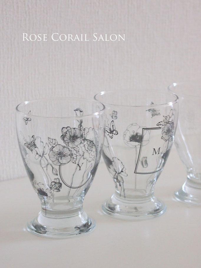 ポーセラーツ:ガラスのゴブレット