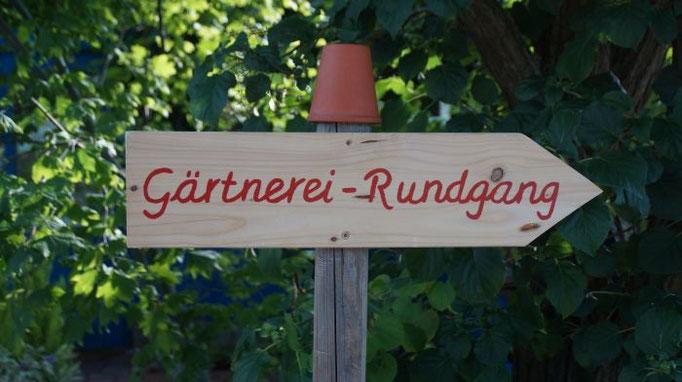 Die Gärtnerei ist zu jeder Zeit einen Rundgang wert
