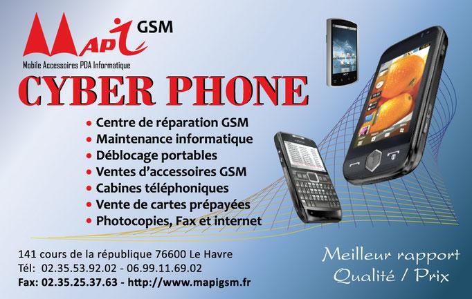 Carte de visite pour MAPY GSM (Le Havre)