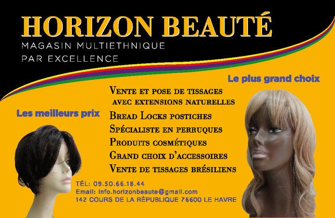 Carte de visite HORIZON BEAUTE (Le Havre)