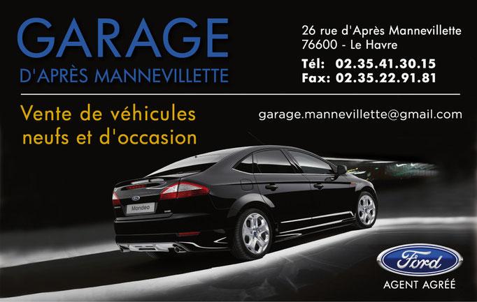 Carte de visite Garage d'Après Mannevillette (Agent agréé FORD)
