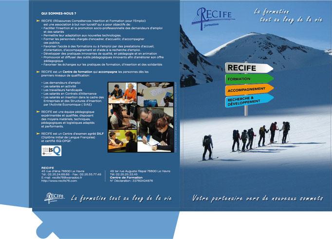 Chemise à rabats A4 pour l'association RECIFE (Extérieur)
