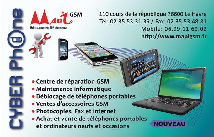 Carte de visite pour MAPY GSM 2013 (Le Havre)