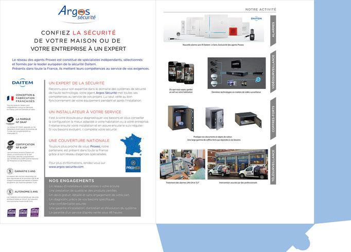 Chemise à rabats A4 ARGOS SECURITE (Intérieur)