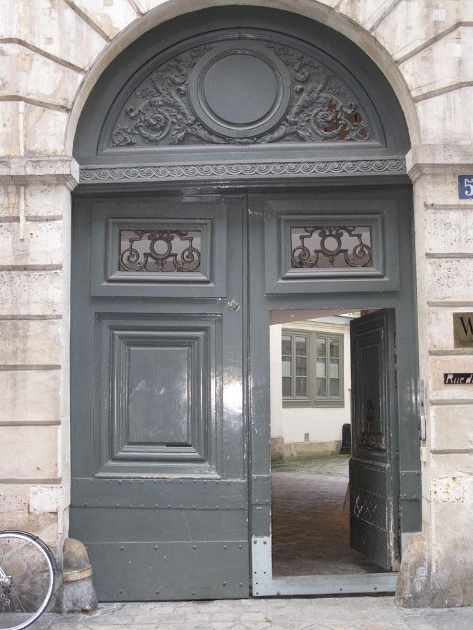 Porte cochère avant dépose par Option Bois