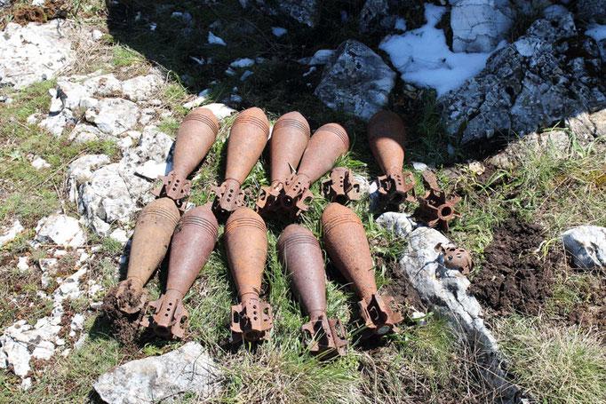 ANA San Giorgio - Sul Golico, le munizioni