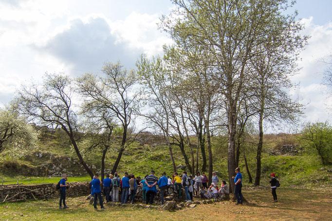 Alpini San Giorgio - Con gli studenti nel carso della Grande Guerra