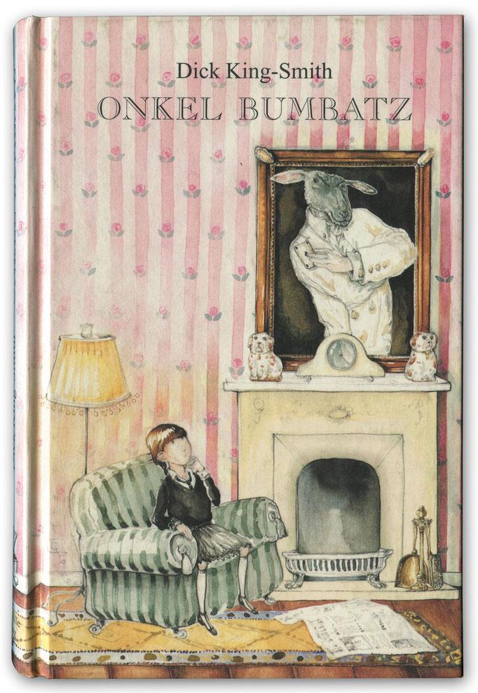 """Cover Kinderroman """"Onkel Bumbatz"""" Dick King-Smith mit zahlreichen feinen Schwarz/Weiß Illustrationen © Caroline Ronnefeldt"""