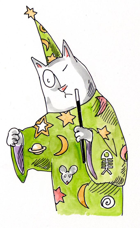 Katzen-Zauberer Zauberbuch 104 Verlag © Caroline Ronnefeldt