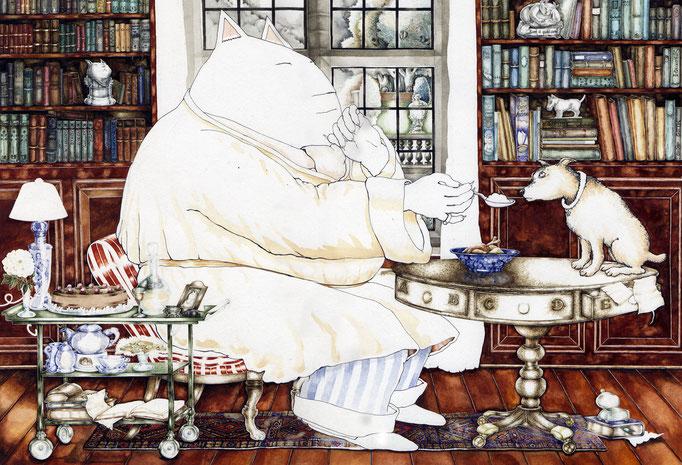 """Bilderbuch """"Der Herr und sein Hund"""" © Caroline Ronnefeldt"""