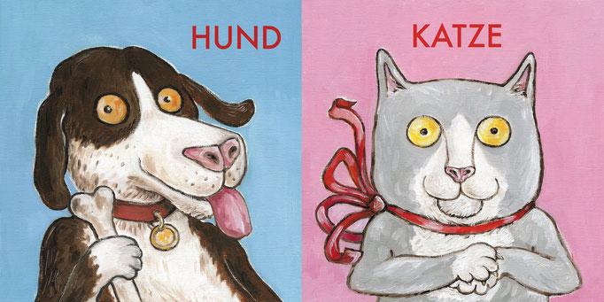 """""""Hund Katze Maus"""" Pappbilderbuch für Kleinkinder"""