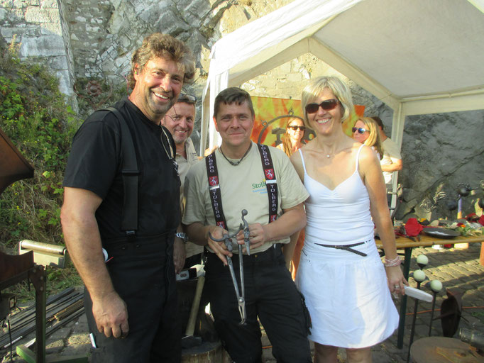Thomas-Maria Schmidt mit Lars Potente, Adi Radermacher (mit Ehefrau)