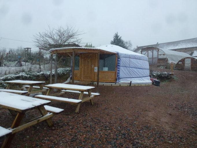 La salle de classe pour les formations longues en permaculture