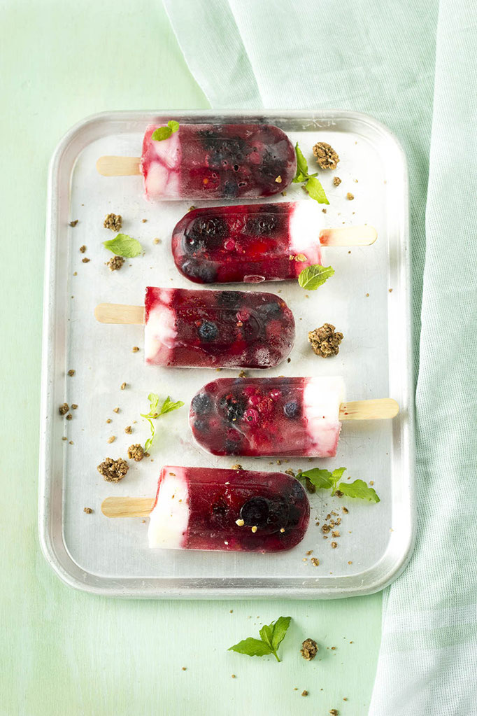 Summerfruit - Bosvruchten-Yoghurt IJs | Fotografie: Carola Doornbos