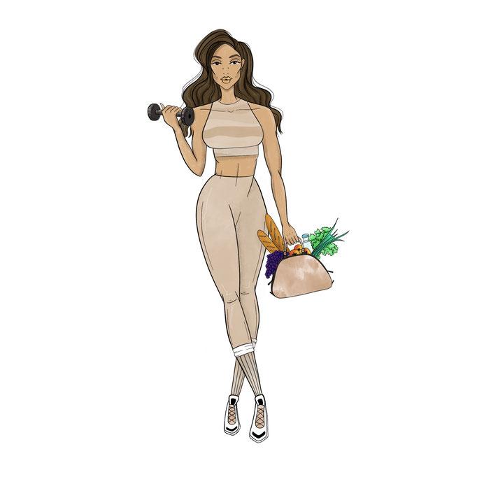 mode illustratie voor Blogger Roan Sophia