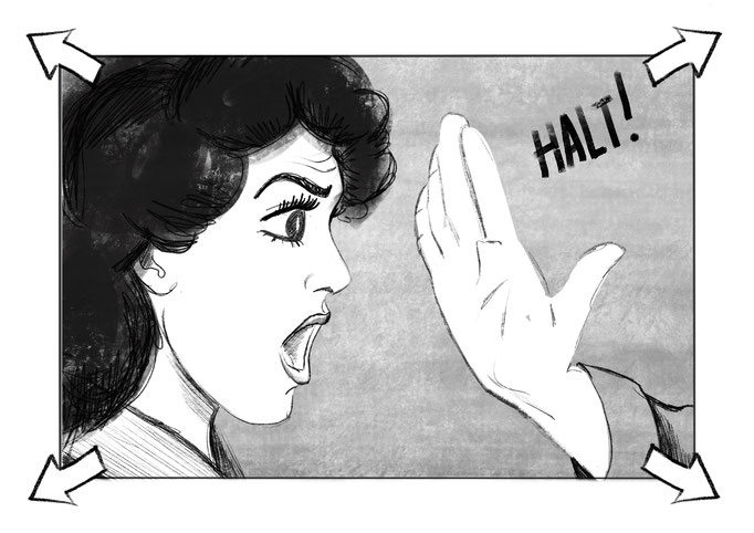 Gedeelte van het storyboard van animatie kort 'Het Vette Goud'