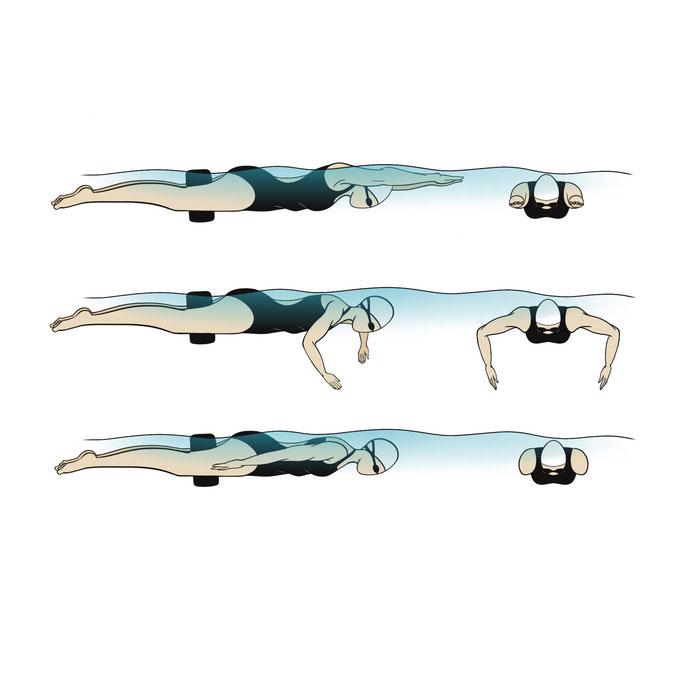 Illustraties voor het boek 'Zwem'
