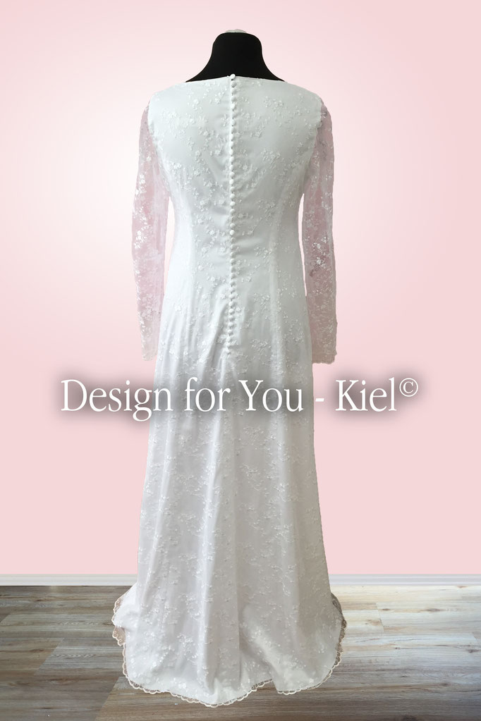 Brautkleid Sandra hinten - © Design for You - Kiel