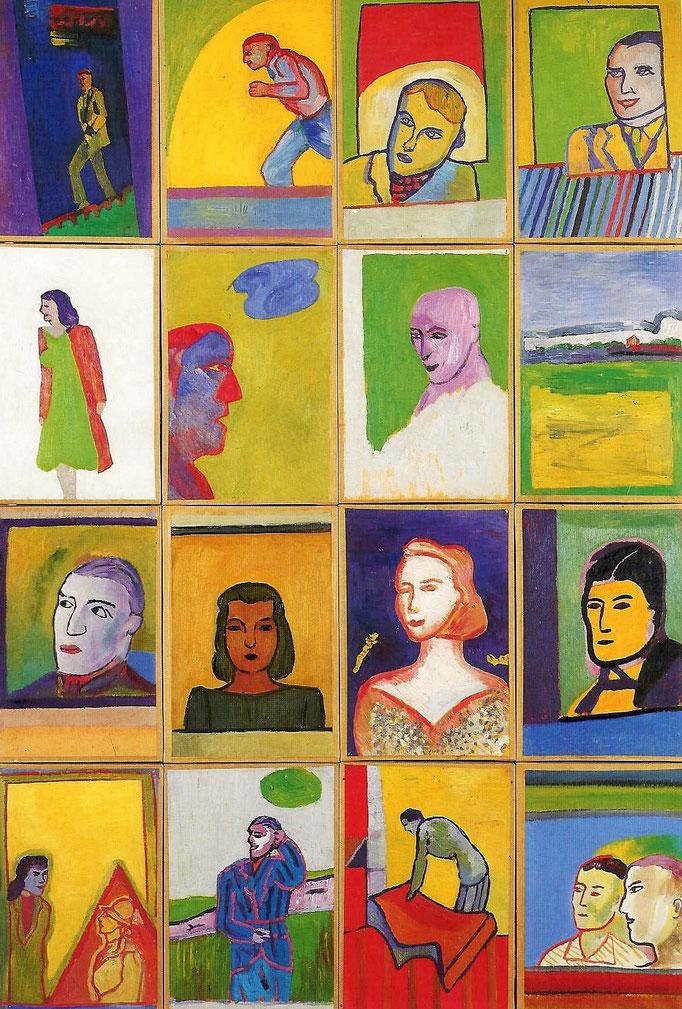 """Ensemble du """"Fantôme"""", 1975, huile sur papier, collection d'atelier"""