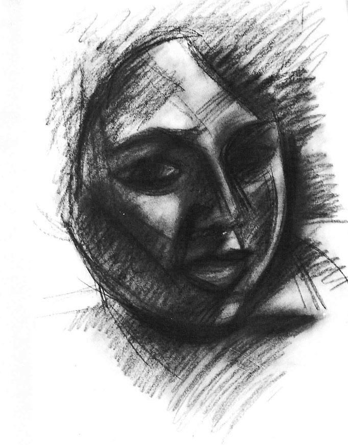Gladys, fusain, [1981]
