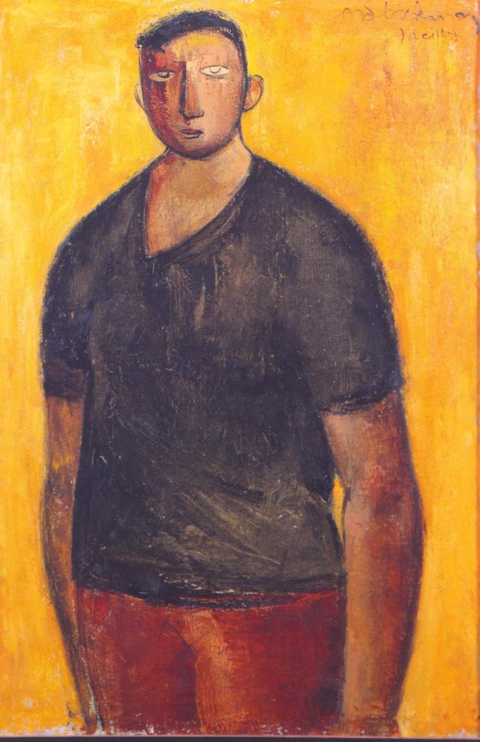 Paysan flamand II , 1955, huile sur toile, collection particulière, Belgique