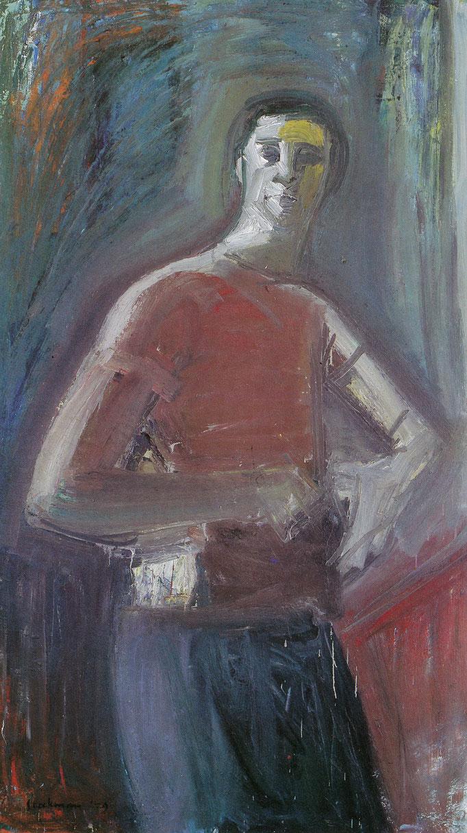 Autoportrait, 145x114, huile sur toile,