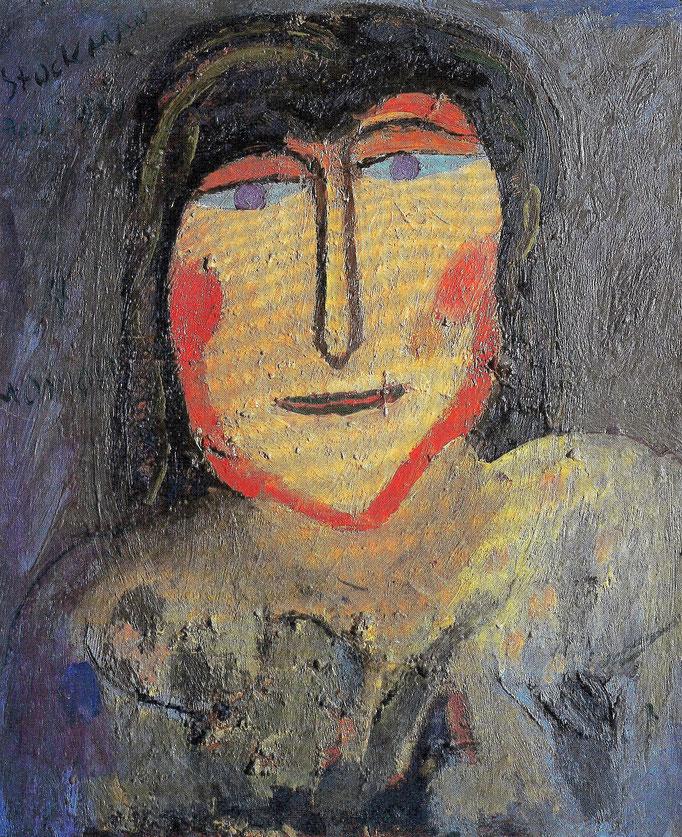Monique, 100x81, 1972, huile sur toile, collection particulière Paris