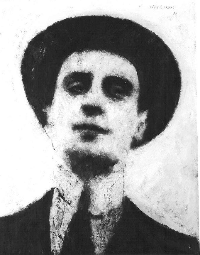 Proust, acrylique, 50x65, [1975], collection d'atelier