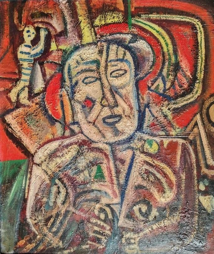 Le dictateur, huile sur toile, [ 1970], collection d'atelier