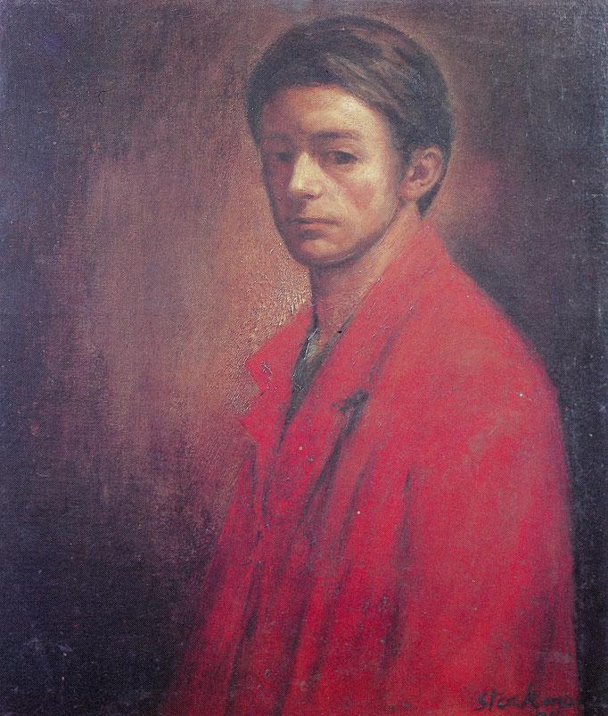 Autoportrait dit Rembrandt, 58x66, 1954, huile sur toile, collection particulière Belgique
